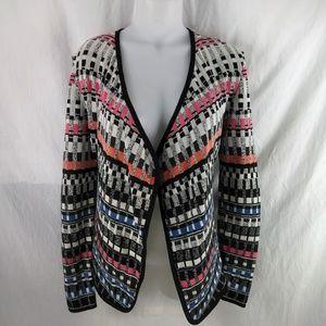 Nic+Zoe Flashing Lights Cardigan Sweater XS Open